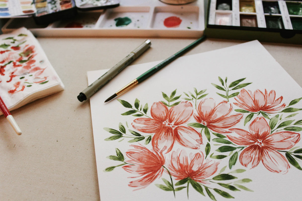 professional amateur watercolor painting